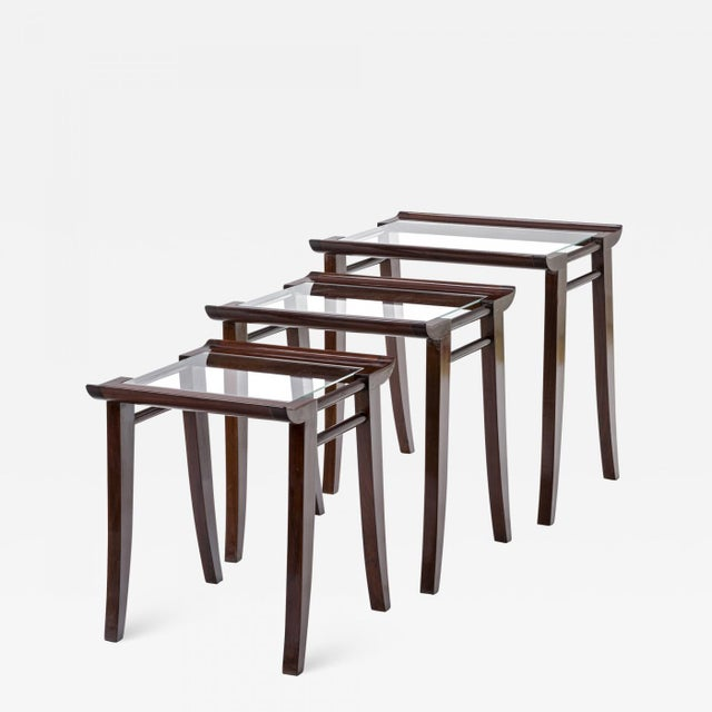 Maxime Old Superb Set of 3 Mahogany Nesting Tables For Sale - Image 6 of 6
