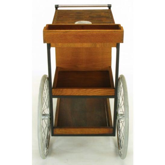 Bill W. Sanders Mid-Century Rolling Bar Cart - Image 8 of 10