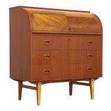 Image of Mid Century Egon Ostergaard Teak Rolltop Desk For Sale