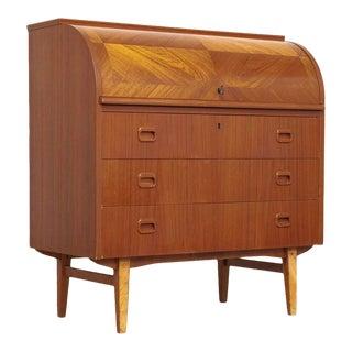 Mid Century Egon Ostergaard Teak Rolltop Desk For Sale