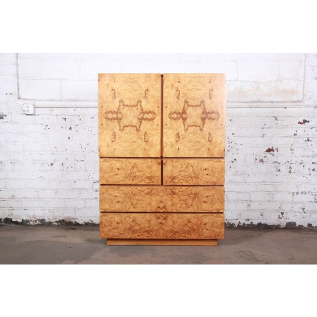Mid-Century Modern Burl Wood Gentleman's Chest by Lane For Sale - Image 13 of 13
