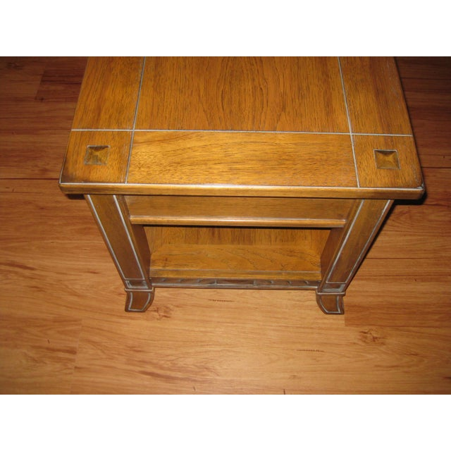 Arts & Crafts Vintage Rustic Style End Table For Sale - Image 3 of 10