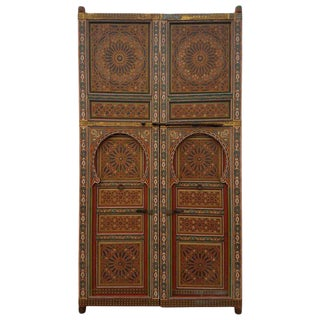 Moroccan Hand Painted Double Door For Sale