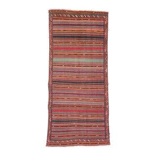 """QASHQAI Vintage Persian Kilim Rug, 5'1"""" x 11'0"""" feet"""
