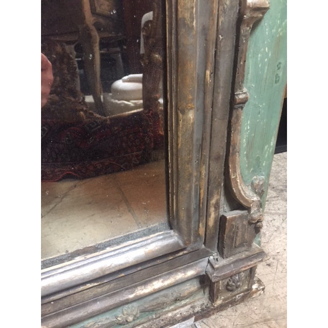 Late 18th Century Italian Green & Gold Mirror For Sale In Los Angeles - Image 6 of 12