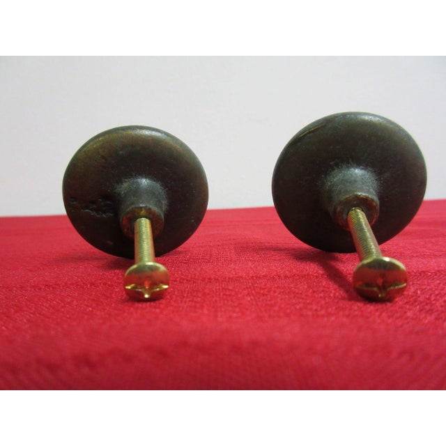 Henredon Henredon Four Centuries Handle Pulls - A Pair For Sale - Image 4 of 4