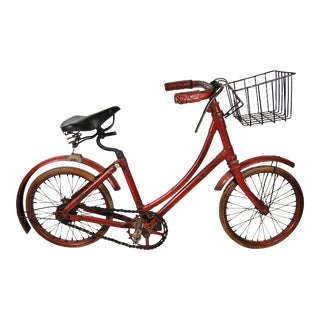 1930s Red English Child's Bicycle For Sale