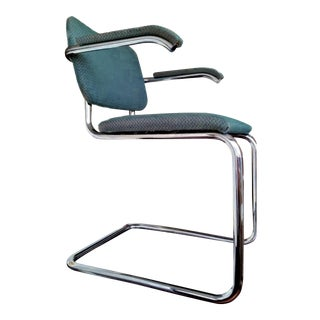 Set of Eight(Perfect Condition) 1960's Italian Made Gavina for Knoll, Marcel Breuer Cesca Armchairs W/ Knoll Upholstered Stain Resistant Fabric