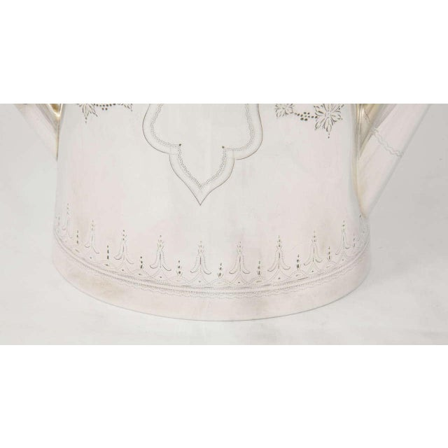 Traditional Silver Plate Coffee Pot For Sale - Image 3 of 9
