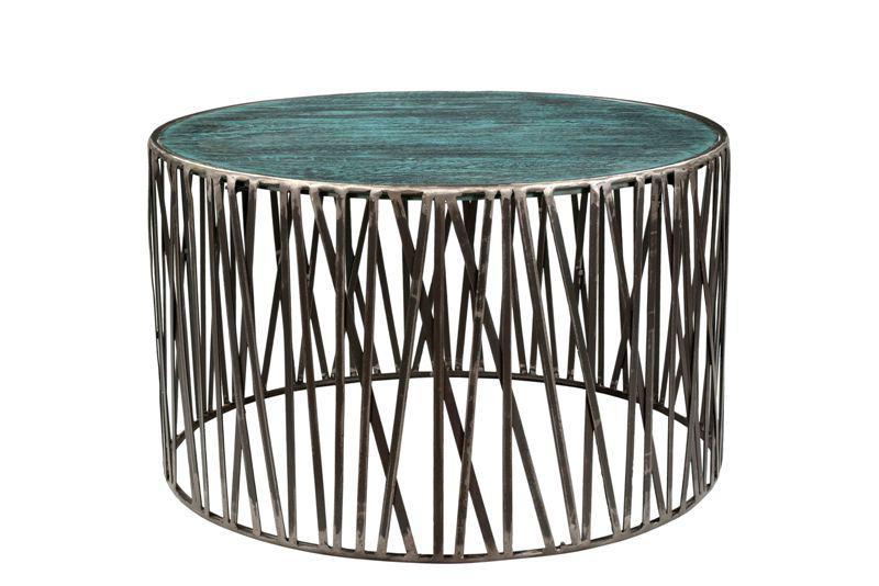 Rustic Garrard Round Metal Side u0026 Coffee Table Set - 2 Piece Set - Image 2  sc 1 st  Chairish & Rustic Garrard Round Metal Side u0026 Coffee Table Set - 2 Piece Set ...
