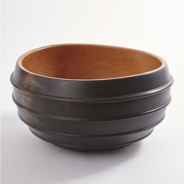 Ebonized Turned Cherry Wood 'Beaded' Vessel No. 3 For Sale In Chicago - Image 6 of 6
