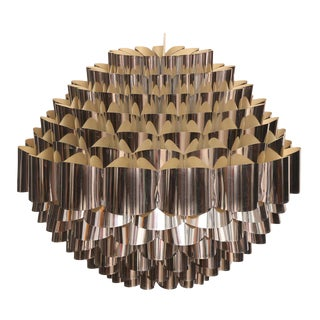 1970s Mid-Century Modern Large-Scale Woven Danish Chandelier For Sale