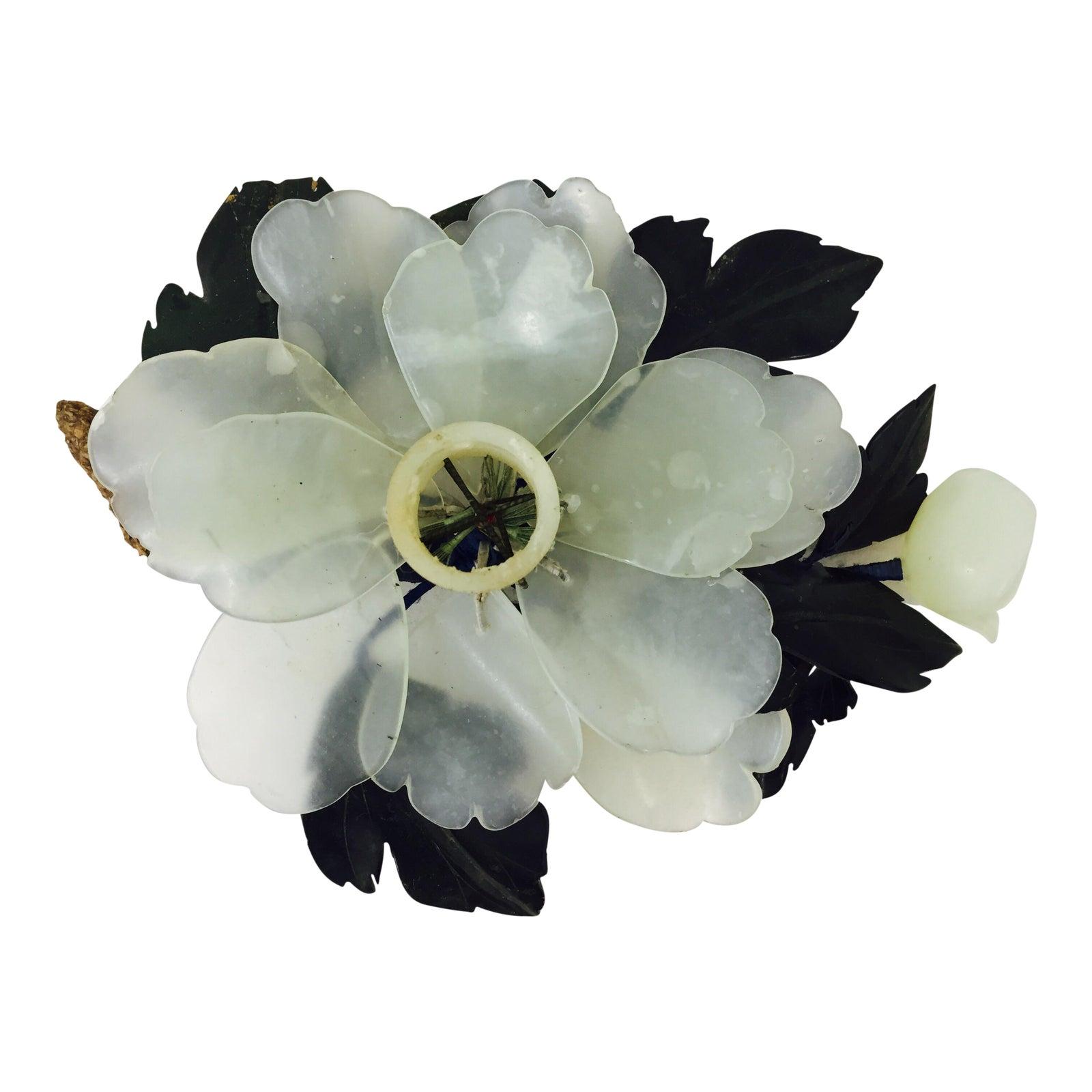 Antique Jade Flower Candle Holder Chairish