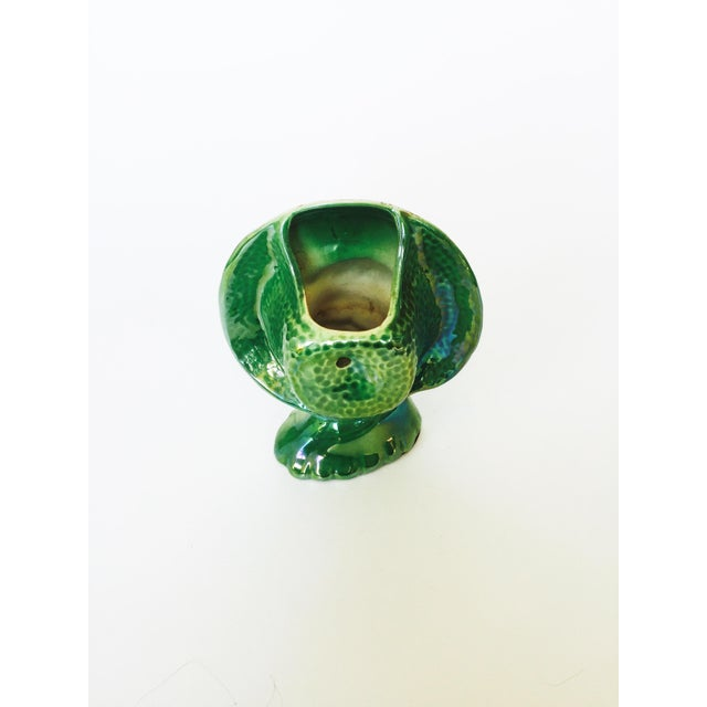 Vintage Green Lady Head Vase - Image 5 of 6