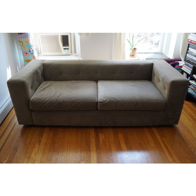 West Elm Champagne 3-Seater Sofa - Image 2 of 3