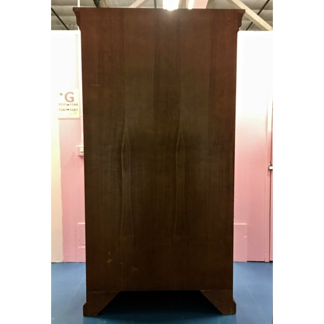 Italian Cherry Wood Armoire For Sale - Image 5 of 8