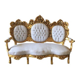 1940s Vintage Rococo Style Sofa For Sale