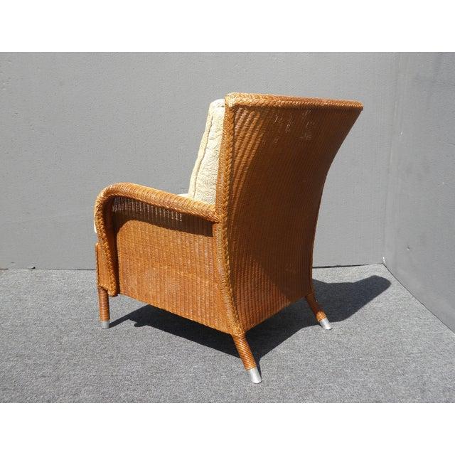 Vintage Quot Janus Et Cie Quot Floral Accent Chairs W Down Feather