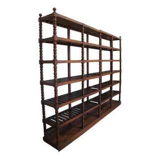 20th Century Mission Oak Etagere Library Bookcase Shelf Preview