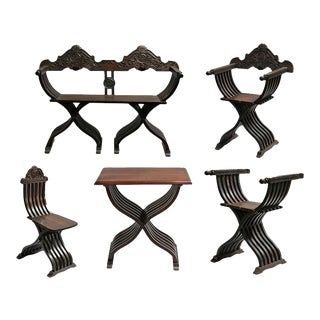 Early 20th Century Italian Renaissance Parlor Set- 10 Pieces For Sale