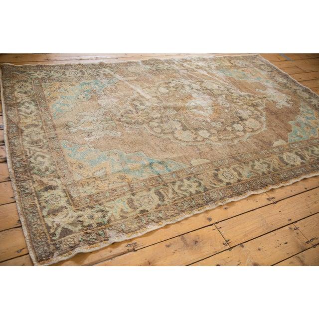 "Vintage Distressed Oushak Carpet - 5'6"" X 8'6"" For Sale - Image 11 of 13"