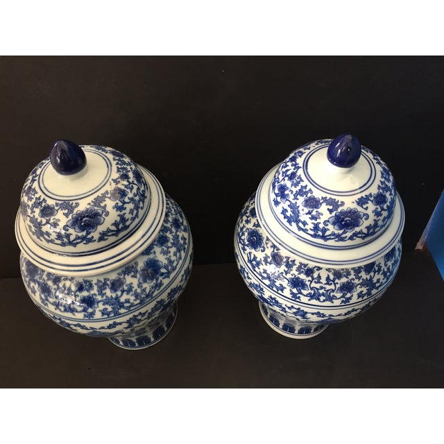 "Porcelain B & W Ginger Jars 14.5"" H For Sale In New York - Image 6 of 9"