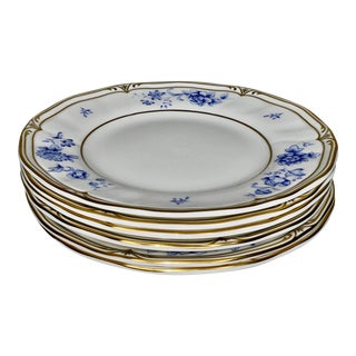 Late 20th Century Ashbury Wedgwood Bone China Bread & Butter Plates Made in England - Set of 6 For Sale
