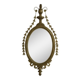 Gold Framed Adam Style Wall Mirror - 20 x 41 For Sale