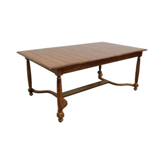 """Ethan Allen """"Old World Treasures"""" Collection English Country Style Farmhouse Dining Table For Sale"""