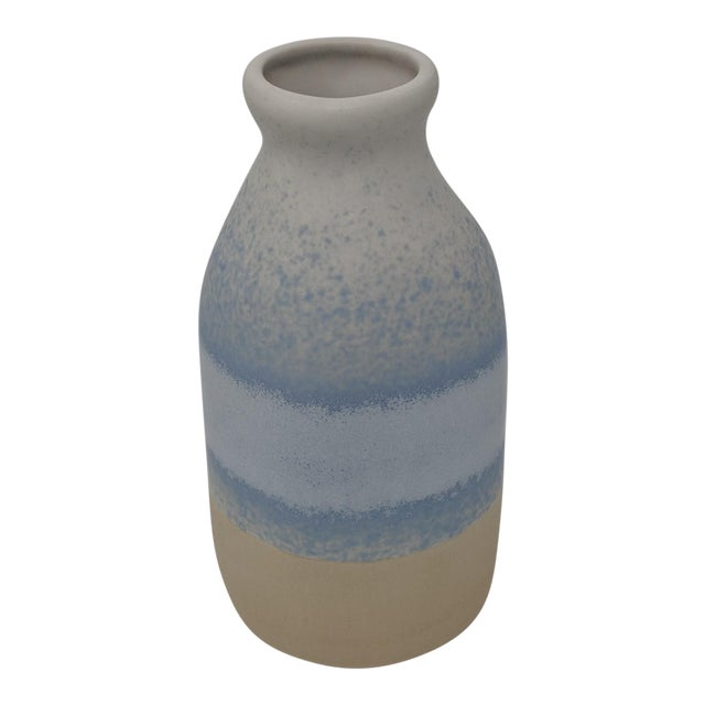 Blue and White Gradient Vase For Sale