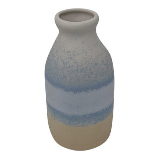 Organic Blue and Brown Vase For Sale