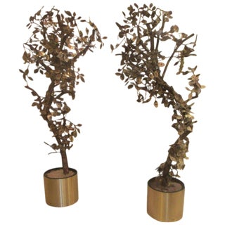 Pair of Curtis Jere Tree Sculptures
