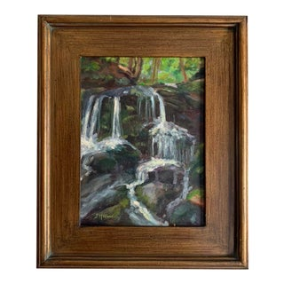 "2016 ""Summer Falls"" Plein Air Landscape Oil Painting, Framed For Sale"