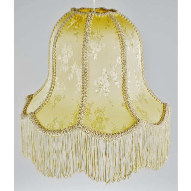 Vintage Victorian Style Bell Shaped Fringe Lamp Shade For Sale In Philadelphia - Image 6 of 13