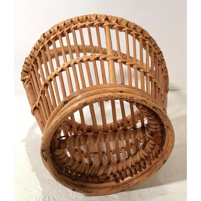 Vintage Handled Basket For Sale In Dallas - Image 6 of 7