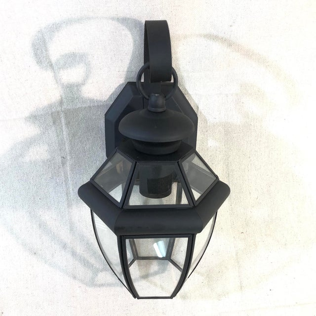Contemporary Livex Monterey 1-Light Outdoor Lantern Wall Sconce For Sale - Image 3 of 12