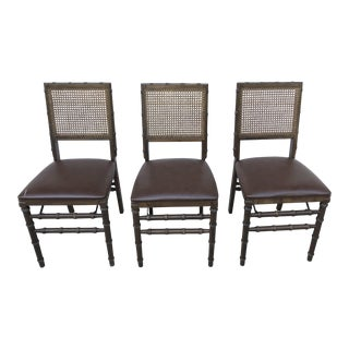 Vintage Bamboo Folding Chairs - Set of 3