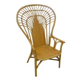 Island Style High Back Rattan Chair For Sale