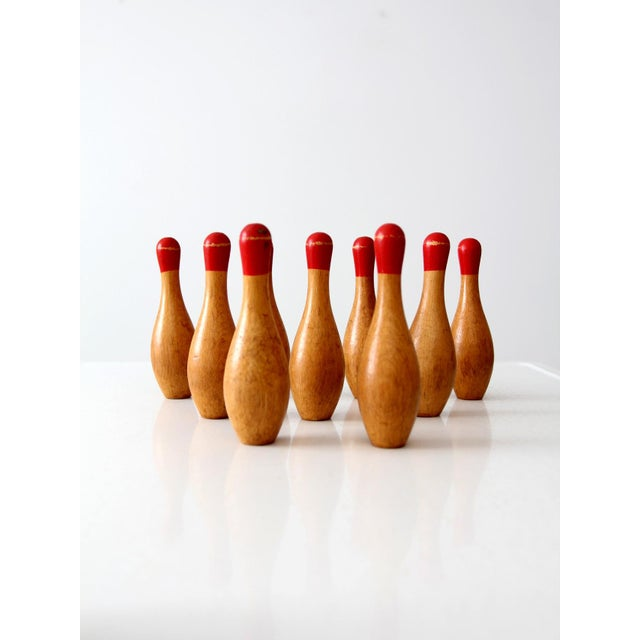 Antique Table Top Bowling Set - Image 5 of 9
