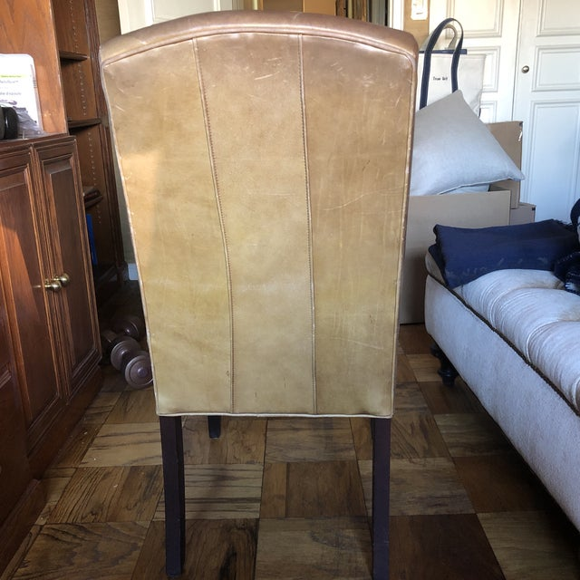 2000 - 2009 21st Century Mitchell Gold Leather Side Chair For Sale - Image 5 of 8