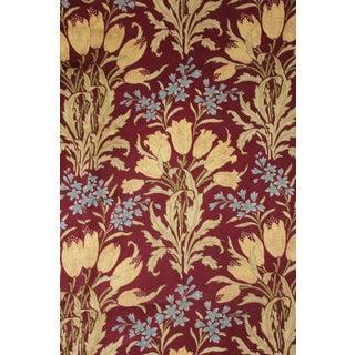 Art Nouveau Floral Design C1900 French Curtain Fabric For Sale
