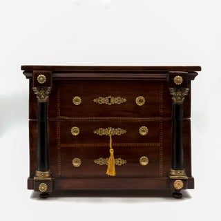 French Empire Mahogany Tantalus Miniature Chest of Drawers, French C. 1820 Preview