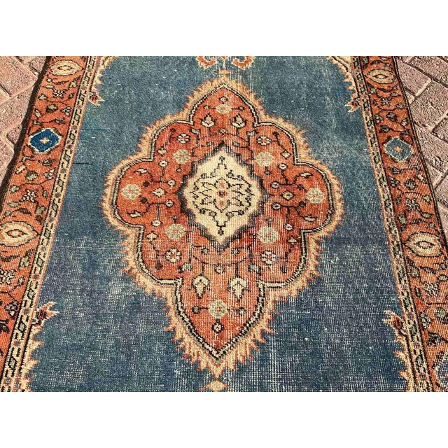 Vintage Hand Knotted Turkish Area Rug For Sale In Raleigh - Image 6 of 10