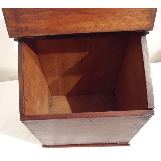 Fantastic Oversized 19th Century Walnut Wall Box For Sale In Los Angeles - Image 6 of 8