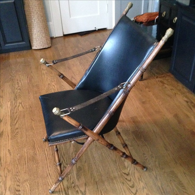 Antique Folding Campaign Chair - Image 3 of 7