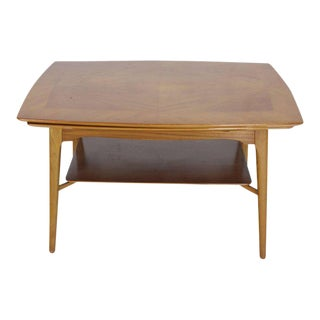 Swedish Blond Wood Expandable Refectory Coffee Side Table Childs Dining For Sale