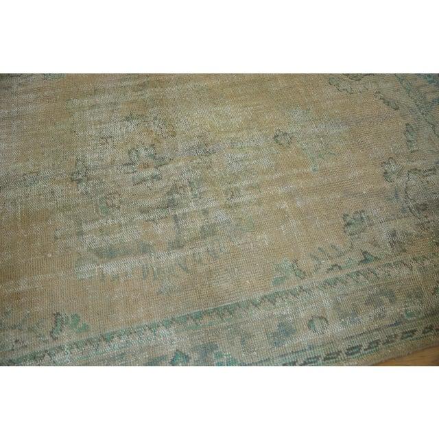 "Green Vintage Distressed Oushak Carpet - 5'8"" X 8'3"" For Sale - Image 8 of 12"
