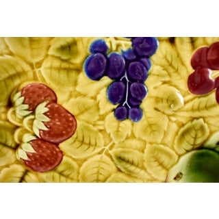 Sarreguemines French Majolica Mixed Fruit Round Serving Platter Preview