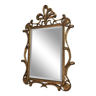 Antique Style French Gilt Feather Mirror