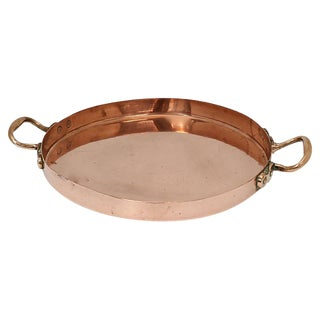 Antique English Copper Crepe Pan For Sale